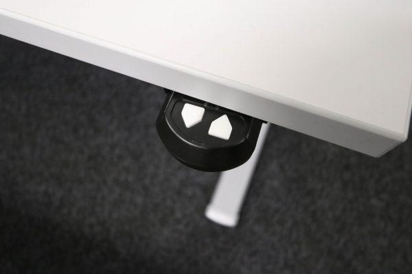Actiforce Schreibtisch lichtgrau elektrisch höhenverstellbar Taster