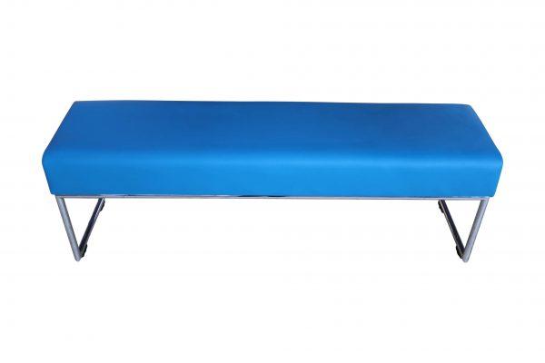 Allermuir Pause Bench Sitzbank azurblau Frontalansicht