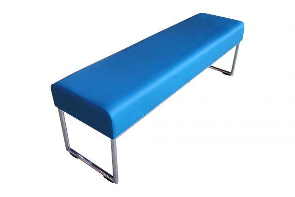 Allermuir Pause Bench Sitzbank azurblau Schrägansicht