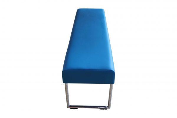 Allermuir Pause Bench Sitzbank azurblau Seitenansicht