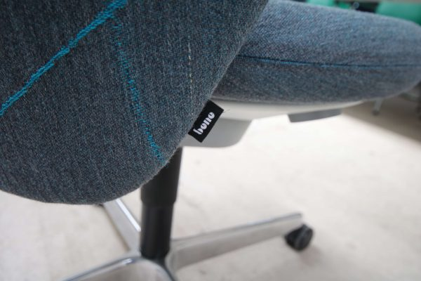 bene Bay Chair blau gemustert Logo