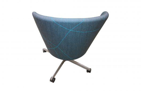 bene Bay Chair blau gemustert Rückansicht