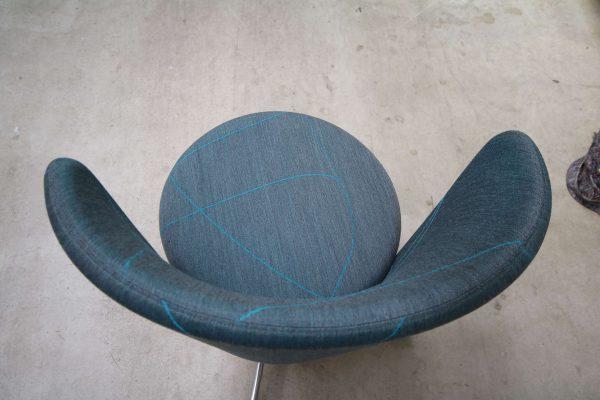 bene Bay Chair blau gemustert von oben