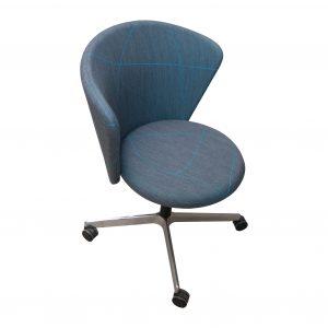 bene Bay Chair blau gemustert Vorderansicht