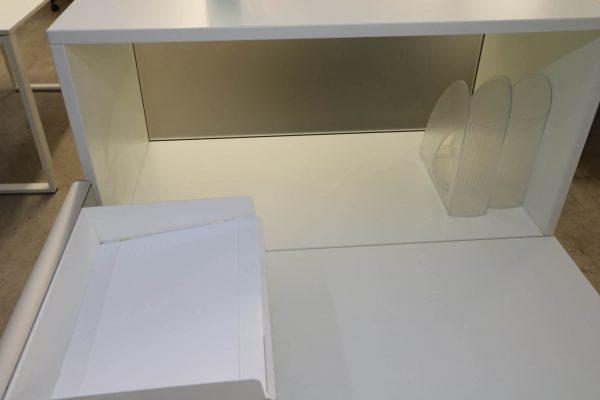 Bene Cube-S Komplettarbeitsplatz weiß verschiedene Größen Ablagefach
