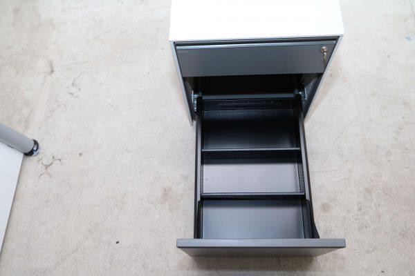 Bene Rollcontainer-lichtgrau anthrazit 2. Schublade