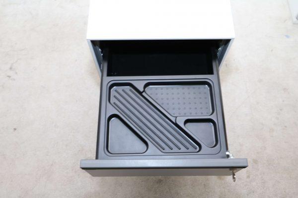Bene Rollcontainer-lichtgrau Stiftschublade