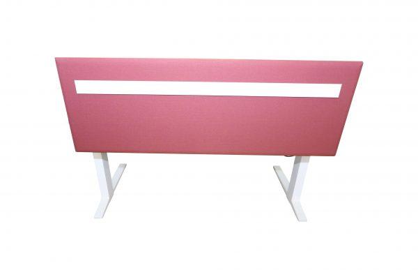 Bene Schreibtisch komplett weiss mit Trennwand rueckansicht