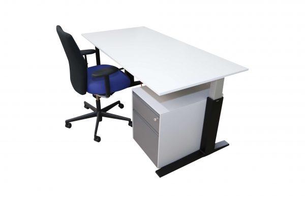 Bene Schreibtisch weiss schwarz kombinationsvorschlag