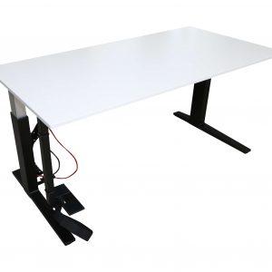 Bene Schreibtisch weiss schwarz schraeg