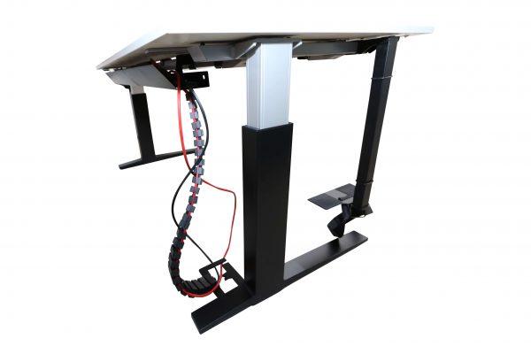 Bene Schreibtisch weiss schwarz schraeg unten