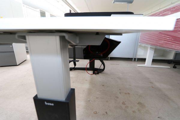 Bene Schreibtisch weiss schwarz tischkante