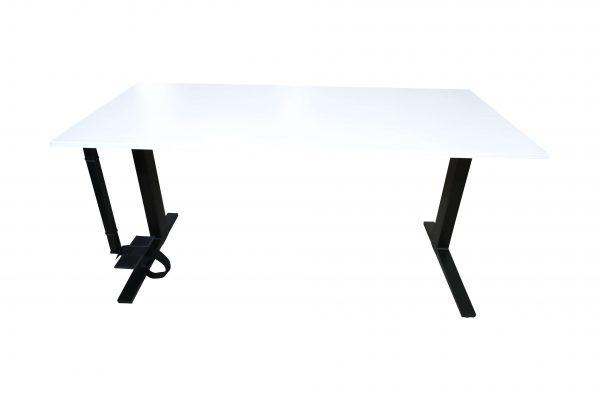Bene Schreibtisch weiss schwarz vorderansicht