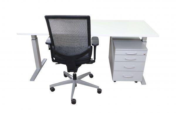 Bene Schreibtisch-weiss silber Kombinationsvorschlag