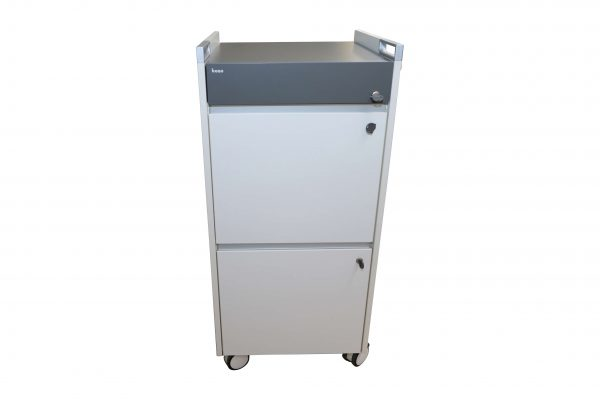 Bene Trolley Caddy weiss anthrazi frontal