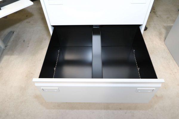 Bisley Metall-Hängeregisterschrank 4 Schubladen lichtgrau Schublade unten offen