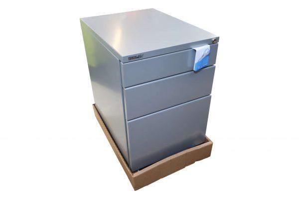 Bisley Rollcontainer silber Neumöbel mit hoher Schublade originalverpackt Folie entfernt