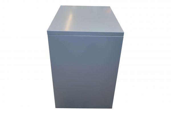 Bisley Rollcontainer silber Neumöbel mit hoher Schublade originalverpackt Rückansicht