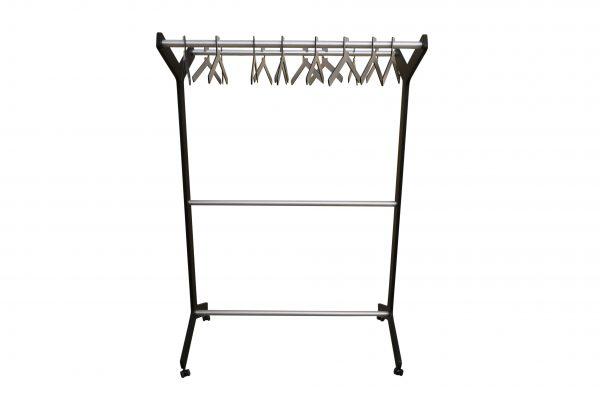 Design Garderobe mattschwarz Alu Frontal