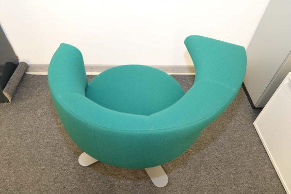 Drabert Hotspot Sessel blaugrün Aufsicht