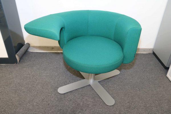 Drabert Hotspot Sessel blaugrün frontal