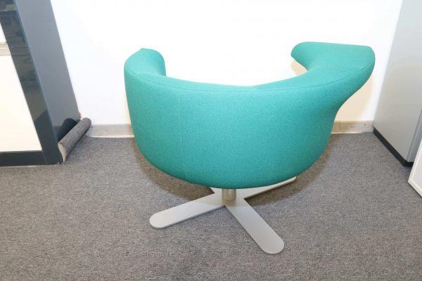 Drabert Hotspot Sessel blaugrün Rückansicht