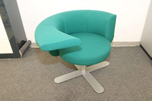 Drabert Hotspot Sessel blaugrün schrägansicht