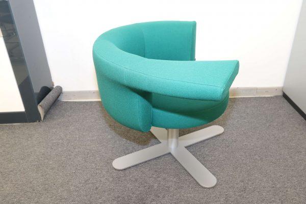 Drabert Hotspot Sessel blaugrün seitlich