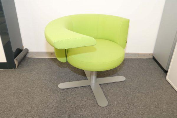 Drabert Hotspot Sessel hellgrün Schrägansicht
