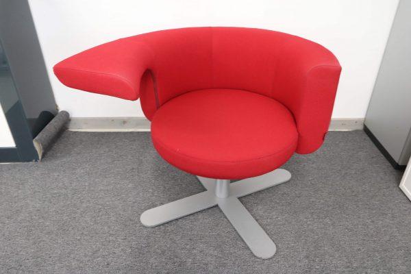 Drabert Hotspot Sessel rot Aufsicht