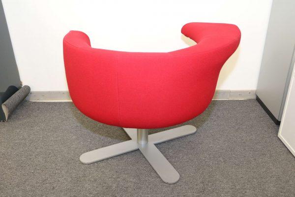 Drabert Hotspot Sessel rot Rücknsicht