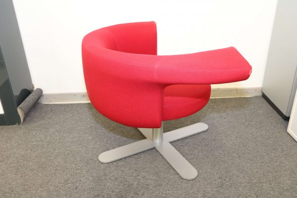 Drabert Hotspot Sessel rot seitlich