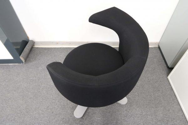 Drabert Hotspot Sessel schwarz Aufsicht