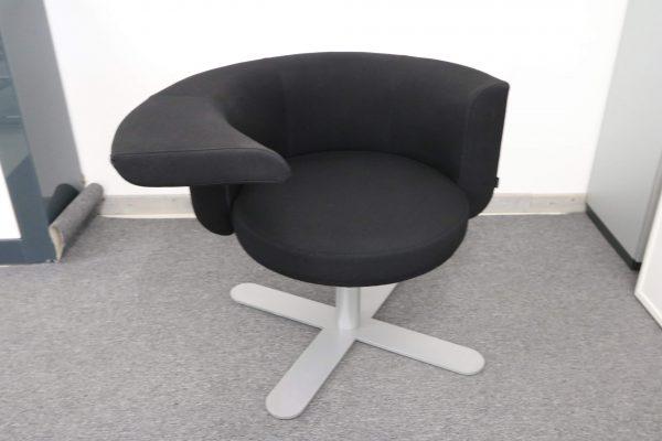 Drabert Hotspot Sessel schwarz frontal
