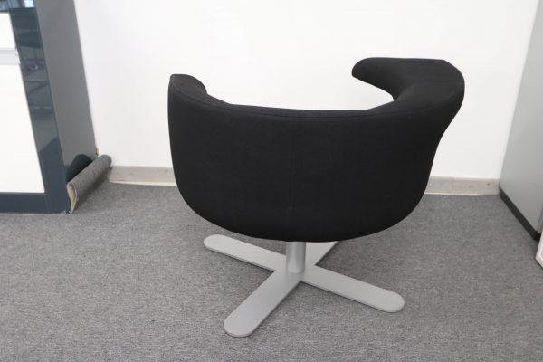 Drabert Hotspot Sessel schwarz Rückansicht