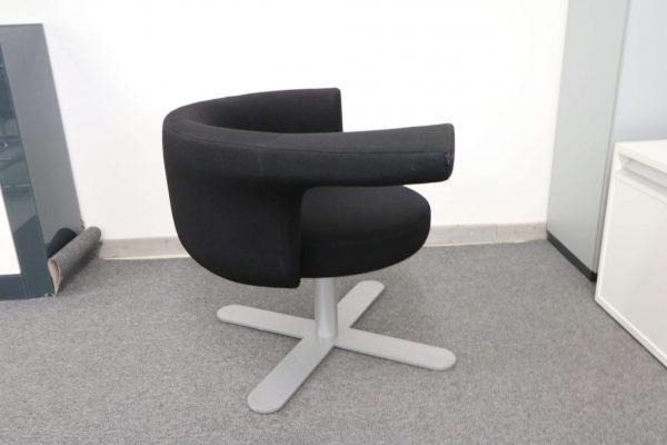 Drabert Hotspot Sessel schwarz seitlich
