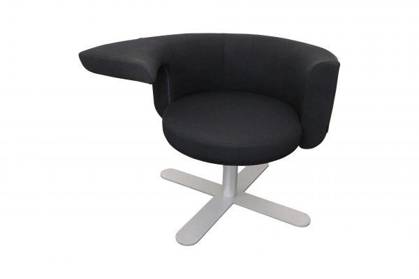 Drabert Hotspot Sessel schwarz Freigestellt