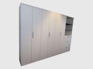 Flügeltürenschrank weiß freigestellte Darstellung