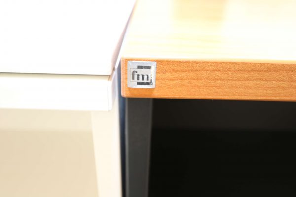 FM Büromöbel Highboard anthrazit Deckseite wählbar - kirschbaum Logo
