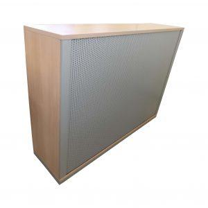 Gesika Akustik-Querrollo-Highboard 3 OH Akazie silber freigestellte Sicht