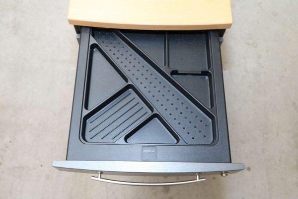 Gesika Rollcontainer Anthrazit mit Buche Deckseite Stiftschublade