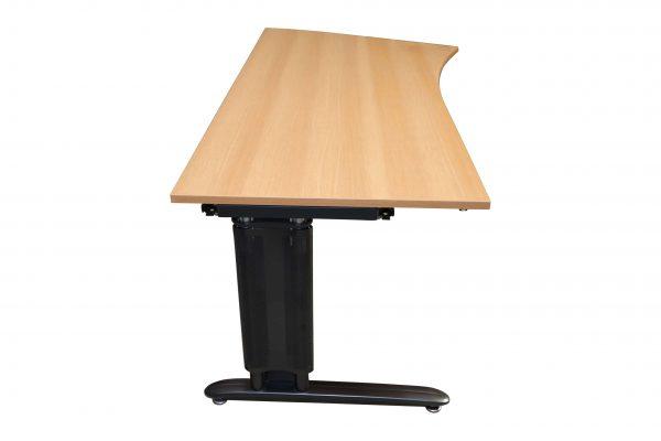 Schreibtisch Anthrazit mit Buche Tischplatte Seitenansicht