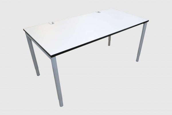 Hali Komplettarbeitsplatz weiß 160x80 cm mit Rollcontainer Tisch