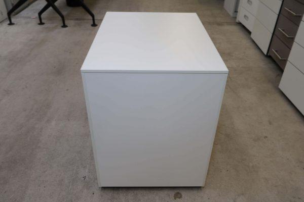 Hali Rollcontainer weiß kurze Version mit Schubladen Rückseite