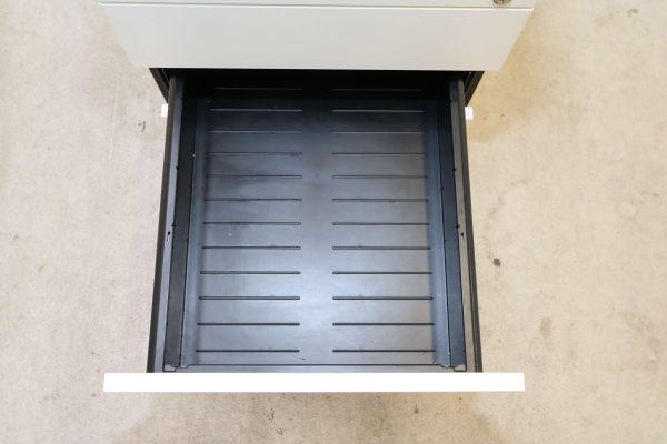 Hali Rollcontainer weiß kurze Version mit Schubladen mittlere Schublade