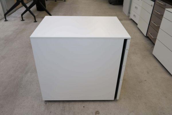 Hali Rollcontainer weiß kurze Version mit Schubladen Seitenansicht
