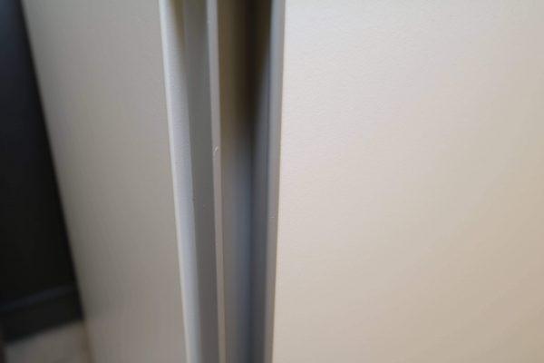 Hali Sideboard weiß schwarze Kante 2OH 120 cm Griffleiste