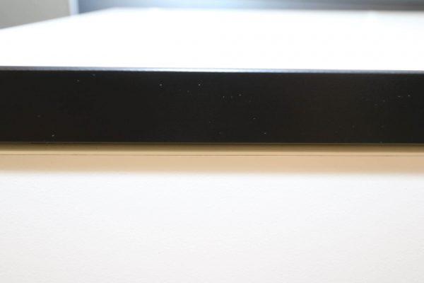 Hali Sideboard weiß schwarze Kante 2OH 120 cm schwarze Kante