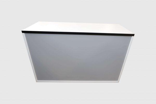Hali Sideboard weiß schwarze Kante 2OH 120 cm Rückansicht
