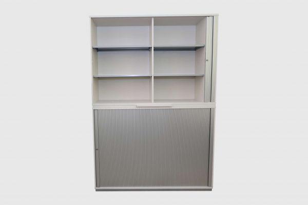 Haworth Schrank weiß-silbergrau verschiedene Größen und Breiten 6 OH oben geöffnet